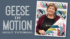 """Make a """"Geese in Motion"""" Quilt with Jenny Doan of Missouri Star (Video Tutorial) Jenny Doan Tutorials, Msqc Tutorials, Quilting Tutorials, Quilting Classes, Quilting Tips, Machine Quilting, Quilting Projects, Jellyroll Quilts, Easy Quilts"""