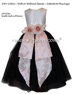 a930a27f74b 12 Best Black flower girl dresses   Weddings images