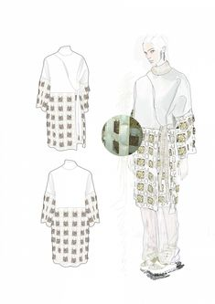 Fashion Sketchbook - fashion illustrations; coat drawings; fashion student portfolio // Caroline Sheraton