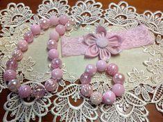 Necklace bracelet lace flower headband