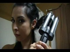 How to make Beach Waves for short hair - YouTube Products used: Revlon Perfect Heat Ceramic 3 Barrel Jumbo Waver.