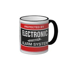 Electronic Alarm System Mugs; $18.95 - #stanrail  -   Ringer Mug: Add some flair to your mug design with the Ringer Mug. Handle and lip of the mug are colored to match. 11 oz. or 15 oz. Available in 10 colors. Dishwasher and microwave safe. Imported.  @stanrails_store