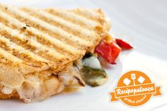 Recipe #17: Spicy, Rajas Grilled Cheese Panini from the wonderful Panini Happy blog!