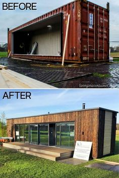 Shipping Container Home Designs, Shipping Container House Plans, Container Design, Shipping Containers, Shipping Container Buildings, Tiny House Cabin, Tiny House Living, Cargo Home, Houses In Ireland