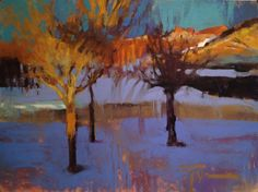 """""""Dawn On Coyote Trail"""" by Jen Evenhus 9x12"""" pastel"""