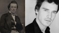 Actor James Stark c. 1850 and Michael Fassbender