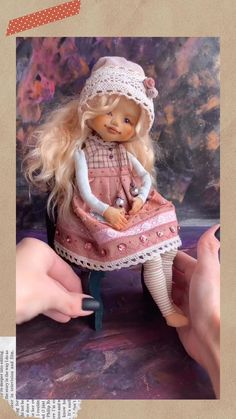 Fabric Doll Pattern, Doll Sewing Patterns, Crochet Doll Pattern, Fabric Dolls, Doll Making Tutorials, Felting Tutorials, Making Ideas, Cheap Dolls, Doll Painting