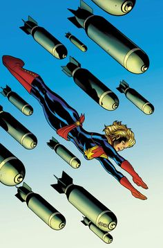 Check out this preview cover of Captain Marvel #3 by Ed McGuinness