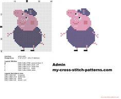 Grandpa Pig small cross stitch pattern 30x31 (click to view)
