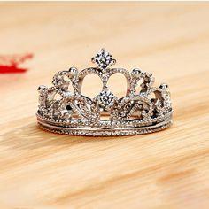 Elegant NSCD Diamond Decorated Crown Women's Ring-USD$ 127.95 : EverMarker.com