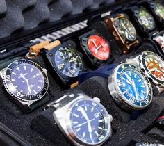 The Ultimate Watch Case / The Martinator is a recent brand by Martin Lim, he customises watch cases out of Pelican laptop cases. http://thegadgetflow.com/portfolio/the-ultimate-watch-case-160/