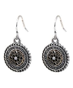 Loving this Crystal & Silvertone Disk Drop Earrings on #zulily! #zulilyfinds