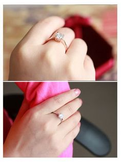 18K Rose Gold Plated With Austrian Crystal Stellux Wedding Ring | Stylish Beth