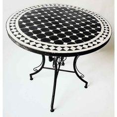 Mosaik bord svart