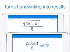 Here Is A Good Handwriting Calculator App for Students ~ Educational Technology and Mobile Learning