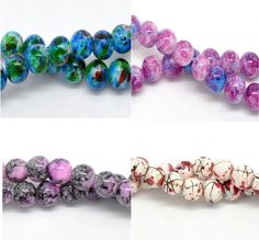 Round Glass Loose Beads