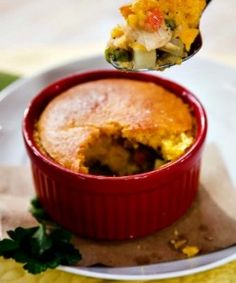 Cristina's Chicken Pot Pie with Corn Bread Crust