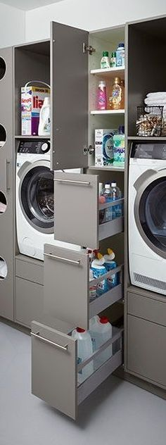 home design Laundry Room Design Ideas - the Dream Your Inspiration. A laundry just needs to be functional, well-equipped, and well-organized. Here are some incredible small laundry room ideas and designs. Room Organization, Home, House Design, Utility Room, New Homes, Laundry Room Renovation, Laundry In Bathroom, Room, Room Design