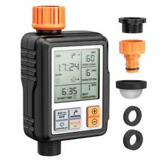 New 3/4'' IP65 Waterproof Automatic Water Irrigation Timer Hose ❤️ Pin it please on your board Irrigation Timer, Sprinkler Irrigation, Drip Irrigation System, Sprinkler Controller, Water Timer, Water Waste, Rubber Rings, Water Flowers, Home Bars