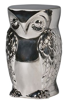 hoot-stool-silver from urban barn, I so need this!!! If anyone is looking for birthday/Christmas ideas!!! ;-)