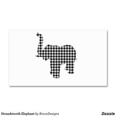 Houndstooth Elephant Double-Sided Standard Business Cards (Pack Of 100)