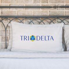Delta Delta Delta, Tri Delta, Delta Delta Delta pillow case, Tri Delta pillow case, Tri Delta gift, sorority gift, sorority pillow case