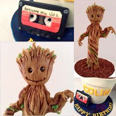 Dancing Baby Groot from Guardians of the Galaxy. By Laura's Cake Corner