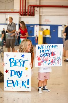 Welcome Home Signs & Ideas For Military Homecomings