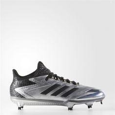 e83f62bd031c Adidas adizero Afterburner 4 Faded (Silver Metallic / Black) Adidas  Baseball, Baseball Shoes
