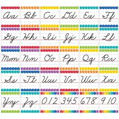 CURSIVE HANDWRITING ALPHABET BB SET