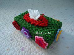 Dinah's Crochet Stuff : Green Crocheted Tissue Box Cover