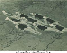 Synchronized swimmers, University of Iowa, 1930s | University of Iowa Physical Education for Women | Iowa Digital Library