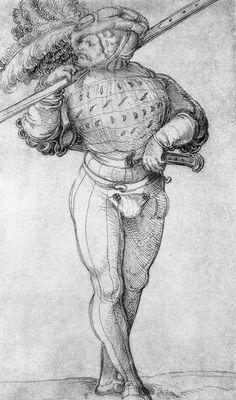 Artist: Schäufelein, Hans Leonhard, Title: Landsknecht [2], Date: 1510