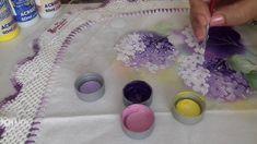 Pintura em tecido. Aprenda pintar hortências