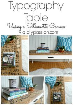 Our new Typography Table | Using a Silhouette Cameo | DIY Passion