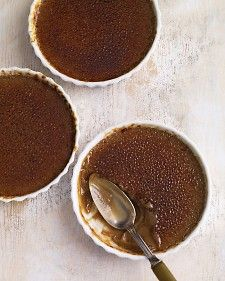 For an elegant touch, serve Cognac with this dessert. It will complement the caramel flavors of the burnt-sugar topping.