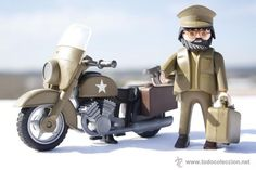 Playmobil Custom - Soldado - Motorista - Mensajero - Americano - 100% Playmobil:
