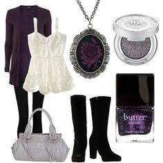 """Romantic Goth Chic"" by ashleyelumina on Polyvore Me on a page."
