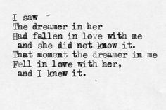 "A quote from the poem ""Dreamers"" by English poet, Ted Hughes (who was married to Sylvia Plath), which is about his mistress, Assia Wevill, Published in the book Birthday Letters in 1998, it was the 1st time he'd written about her in the 30 years since her death."