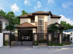 Live In Comfort And Luxury With This Two Story Residential House Plan - Ulric Home House Fence Design, Two Story House Design, 2 Storey House Design, Two Story House Plans, Classic House Design, Modern House Design, Beautiful House Plans, Modern House Plans, Modern House Philippines