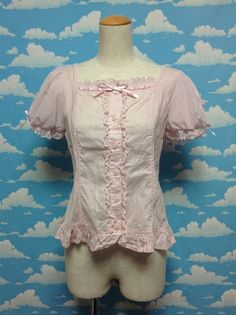 Mermaid Blouse (no collar) in Pink from Angelic Pretty - Lolita Desu