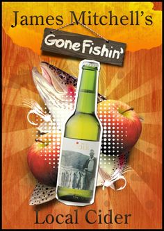 James Mitchell's Gone Fishing Cider Apple Wine, Craft Cider, Gone Fishing, Brewing, African, Brow Bar, Cooking