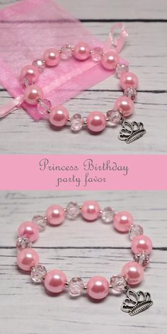 Pink princess beaded bracelet Princess party favors Little girl pink jewelry Disney princess birthday party ideas Princess custom jewelry Pink princess beaded bracelet are the perfect for a Princess birthday party favors, Little gi Pink Princess Party, Disney Princess Birthday Party, Princess Party Favors, Birthday Party Favors, Princess Room, Mermaid Birthday, Little Girl Jewelry, Pink Jewelry, Girls Jewelry