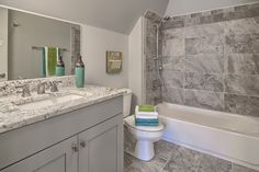 Gray porcelain tile shower with same tile floor. Floors And More, Custom Shower, Basic Colors, Porcelain Tile, Home Renovation, Color Pop, Tile Floor, Home Improvement, Bathtub