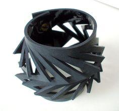 Треугольник вырезать кожаный Браслет-манжета