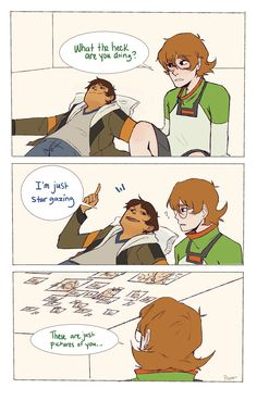 """The stars are looking extra beautiful tonight"" - by poopue - Lance and Pidge"