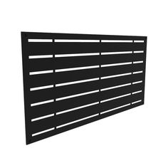 Freedom (Common: x x Actual: x x Boardwalk Black Vinyl Decorative Screen Panel at Lowe's. More than a wall decoration, this decorative lattice panel allows you to dress a wall as you wish or create an openwork partition, both outdoor and Privacy Fence Designs, Privacy Fences, Privacy Screens, Decks With Privacy Walls, Decorative Screen Panels, Black Pergola, Black Fence, Privacy Screen Outdoor, Privacy Planter