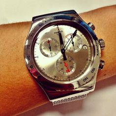 #Swatch Irony Chrono Silverish YVS405G