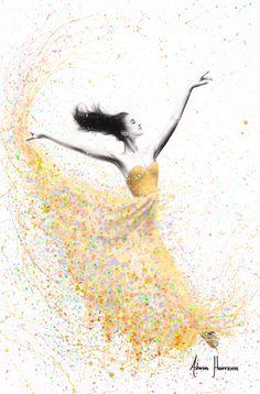 Ashvin Harrison: Golden Shimmer Dance - acrylic, charcoal on canvas Dancing Drawings, Art Drawings, Freedom Drawing, Freedom Art, Ballerina Kunst, Dancer Drawing, Ballerina Painting, Ballerina Drawing, Ballet Art