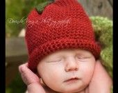 Crochet Red Apple Hat 0-3 month